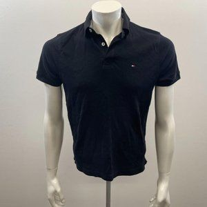 Tommy Hilfiger Men`s Black Collard Tee Shirt